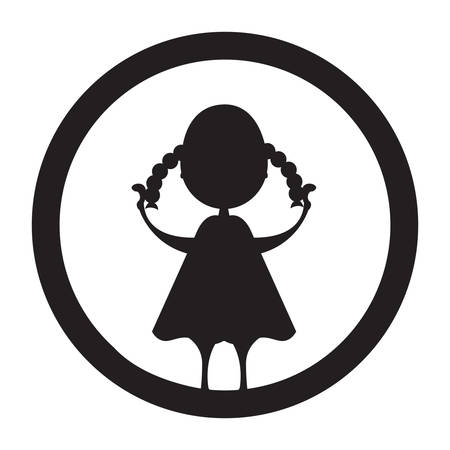 plaits: silhouette of girl holding plait