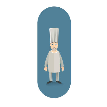 guy standing: chef standing Illustration