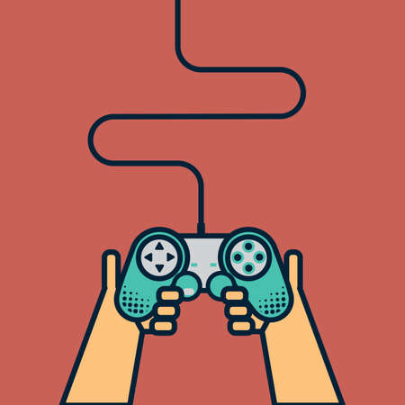 game controller: hands holding game controller