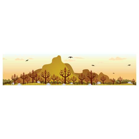 wilderness: wilderness landscape Illustration