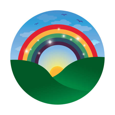 grasslands: rainbow in the meadows