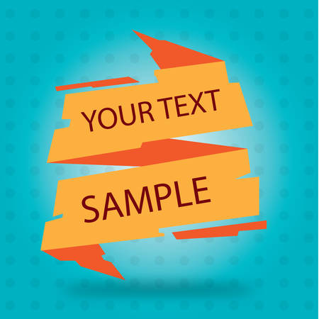 template: ribbon template Illustration