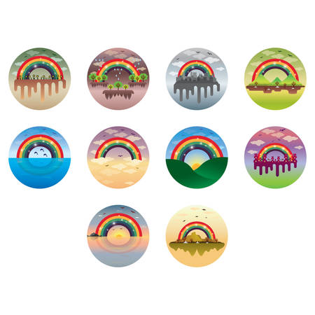 rainbow: rainbow icons