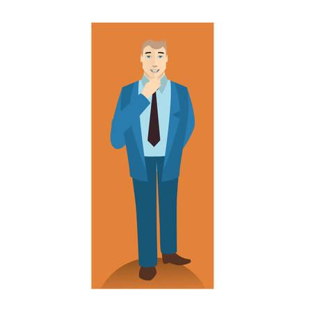 businessman standing: businessman standing