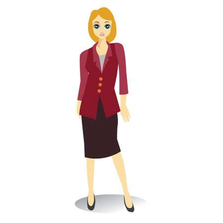 businesswoman standing: businesswoman standing