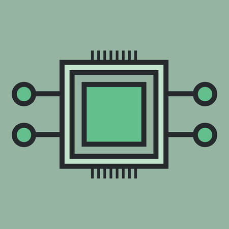 microchip: microchip Illustration