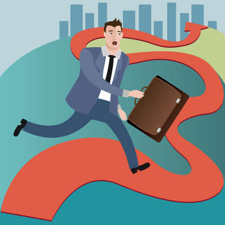hurry: businessman in hurry Illustration