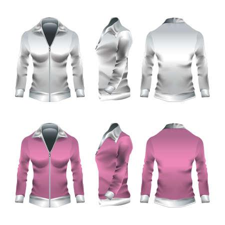 woman's clothing: womans jacket Illustration