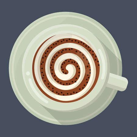 latte: latte with design in foam
