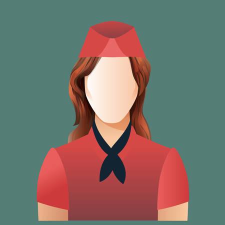 air: air hostess Illustration