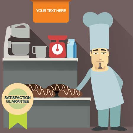 weight machine: baker Illustration