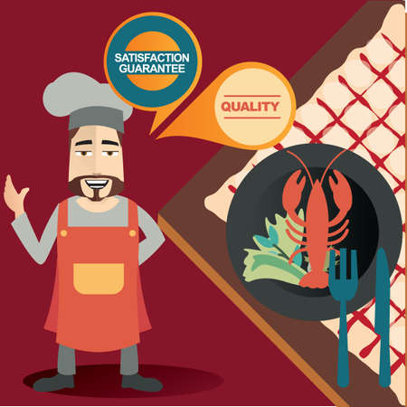 job satisfaction: chef thinking Illustration