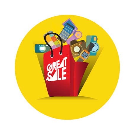 great: great sale Illustration