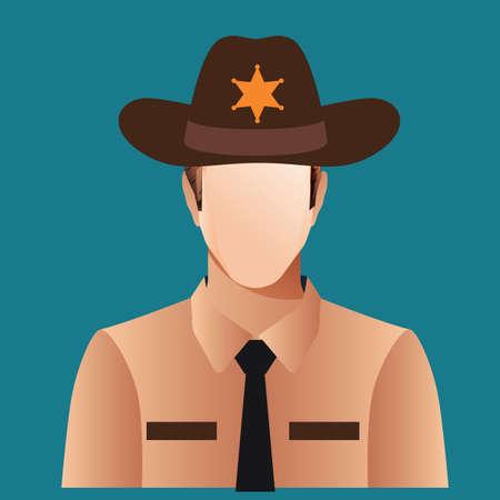 sheriff: sheriff officer Illustration