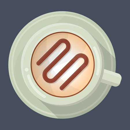 caffe: coffee cup with saucer Illustration