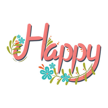 happy: word happy