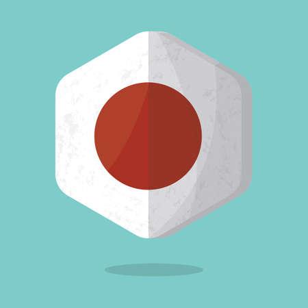 bandera japon: Bandera japonesa Vectores