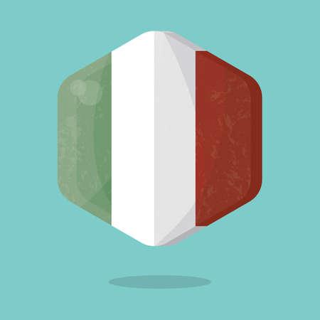 national identity: italy flag Illustration
