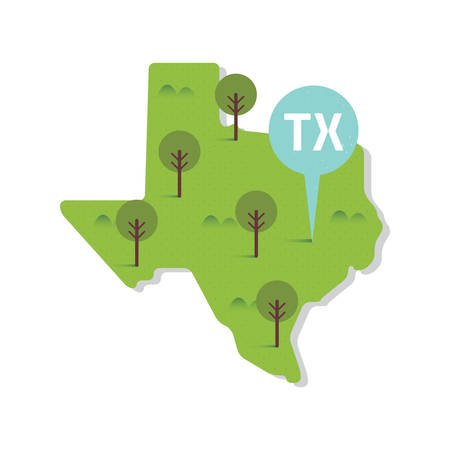 texas state: texas state map Illustration