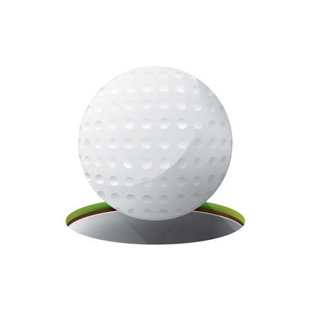 golf ball and hole Ilustrace