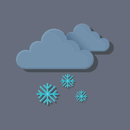 dark clouds: dark clouds with snowflakes