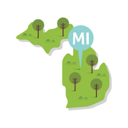 michigan: michigan state map