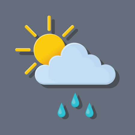 day forecast: sun with cloud and rain