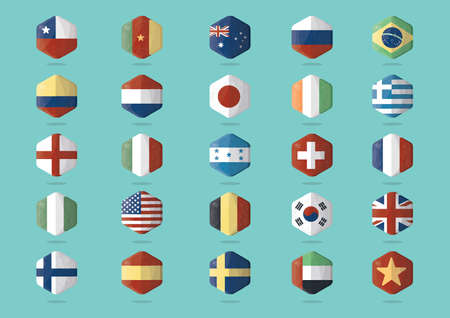 grecian: collection of country flags Illustration