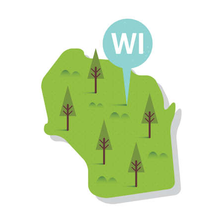 state wisconsin: wisconsin state map