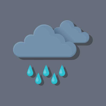 dark clouds: dark clouds with rain Illustration