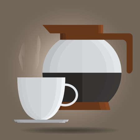 jug: coffee jug and cup