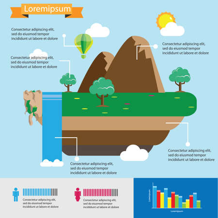 cascade mountains: nature infographic