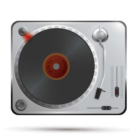 dj turntable: dj turntable Illustration