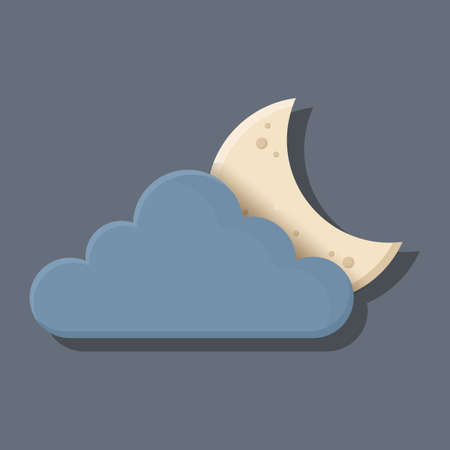 dark cloud: dark cloud and moon Illustration