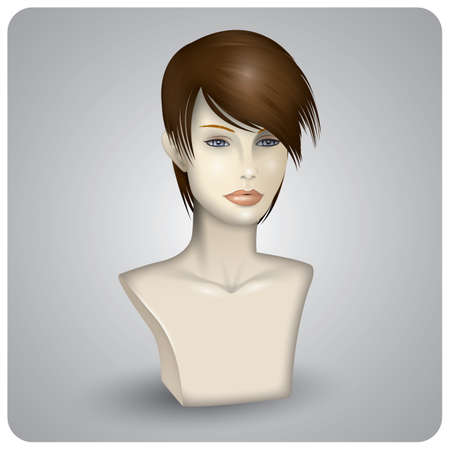 wig: hair wig on the mannequin