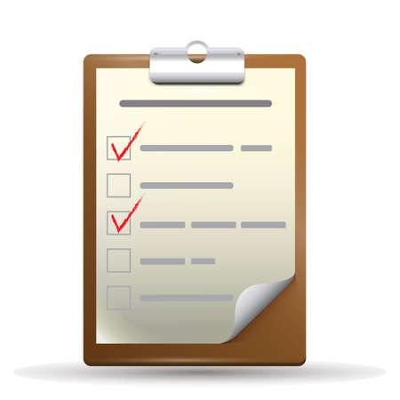 checklist: checklist on clipboard Illustration