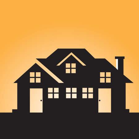 silhouette maison: Silhouette de la maison