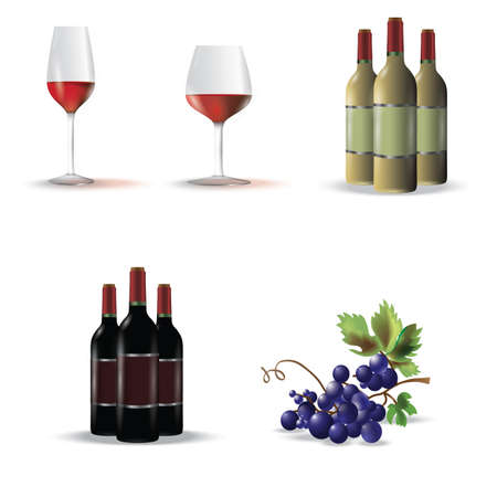 red grape: assorted wine collection