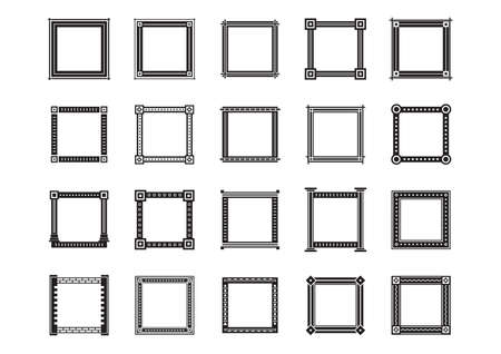 copyspaces: collection of frames Illustration