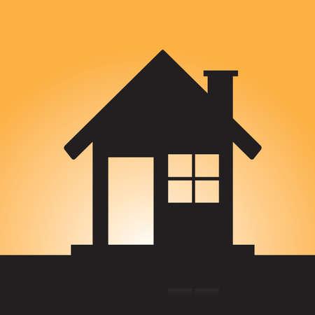 silhouette maison: silhouette de la maison Illustration