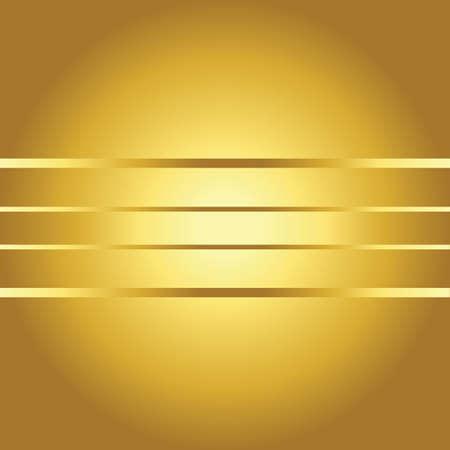 lineas horizontales: fondo de oro con líneas horizontales Vectores