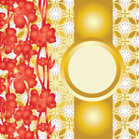 copyspace: floral background with copyspace
