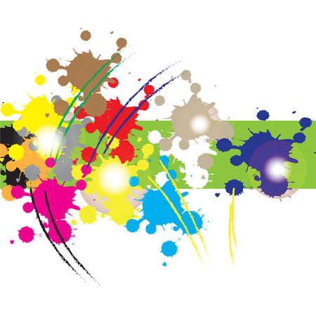 ink splatter: ink splatter background Illustration