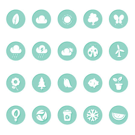 themed: environmental themed icons