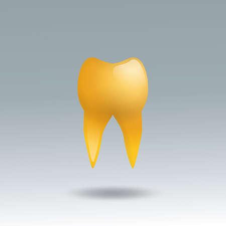 molar: golden molar tooth Illustration