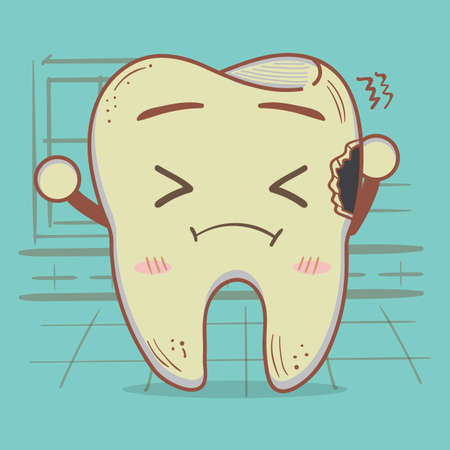 cavity: cavity tooth with sad expression