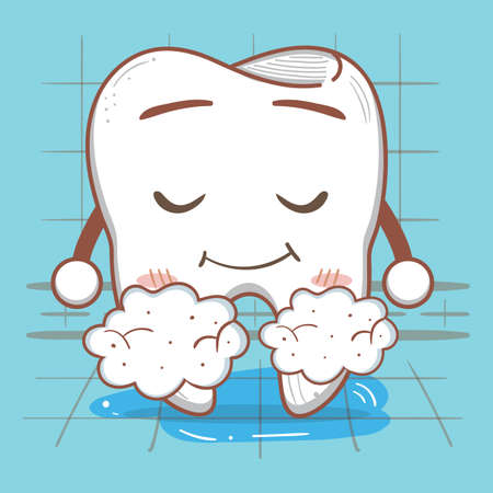 foam: tooth with foam Illustration