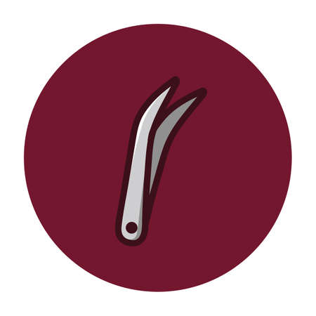 tweezers: dental tweezers Illustration