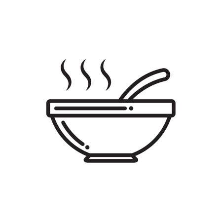 スープの熱いボウル  イラスト・ベクター素材