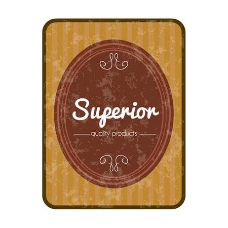 superior: superior label Illustration